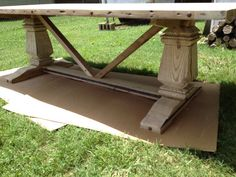 Trestle Dining Table by ToddManringDesigns on Etsy