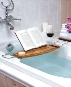 bathtub book stand.