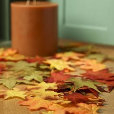 Assorted Artificial Fall Maple Leaves