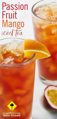 Feeling the heat? Cool off with our refreshing Passion Fruit Mango Iced Tea, made with freshly brewed unsweetened iced tea with real passion fruit and mango flavors!