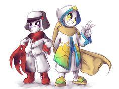 Anonymous said: What would swap Goth and Pallet look like? If you don't mind me asking (•w•) Answer: swap!goth: Gloom swap!palette: Pibbidi (lol get it? bibbidi bobbidi boo, cause he looks like.., ok...