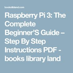 raspberry pi projects book pdf free download