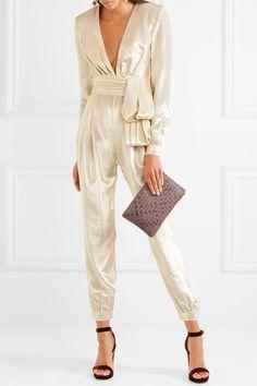 Zuhair Murad | Silk-blend lamé jumpsuit | NET-A-PORTER.COM