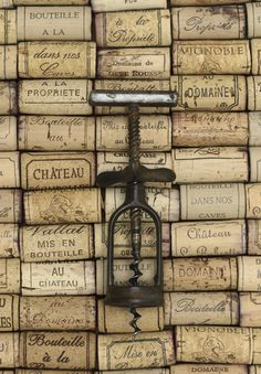 Corks from French wine bottles.