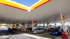 Modern day Shell petrol station.