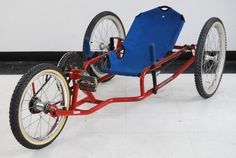 1970's recumbent trike. I kinda want this for its vintage nifty-neato factor.