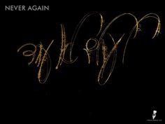 Never again by hebrew-tattoos.com