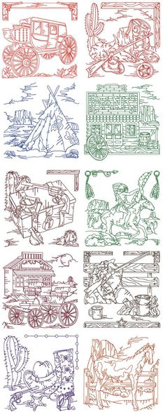 Far Out West by Ginger Dreams GDD_108 - $2.00 : Embroidery Passbook Mall, Instant download Embroidery Designs