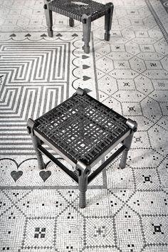Mosaic tile floor - LA BELLE EPOGUE