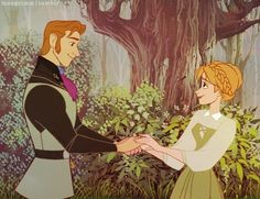 Hans & Anna If they were created in the old Disney style <3