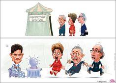 Previsão do futuro na tenda de Sérgio Moro. Lula, Cunha e Dilma Tomam um susto.!...