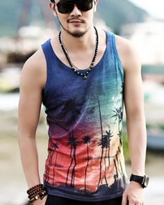Mens Tank Tops Dogs Roses Qiulty of Love Casual 3D Vest Sleeveless Shirt