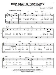 Bee Gees How Deep Is Your Love Sheet Music Notes Chords Score Download Printable Pdf Sheet Music Notes Sheet Music Music Notes
