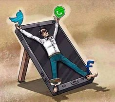 I pinned this from Alexandra Chandler. The reason i pinned this picture is because it shows the reality we truly live in. This image reveal the true reality of social media and society. We are prisoners to technology. Satire, Psychedelic Art, Winter Thema, Pictures With Deep Meaning, Deep Images, Social Media Measurement, Social Media Art, Satirical Illustrations, Satirical Cartoons
