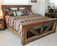 Love this trestle bed...I'm gonna build it. It would look awesome with a ship lap or barnwood accent wall.