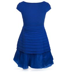BABY DIOR - Porcelain blue Tricot knit organdi dress