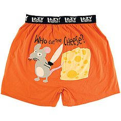 Who Cut the Cheese? Novelty boxers ask the question--but do we really need the answer? $15.98