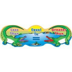 Greater and Less Than Alligators Banner