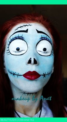 2015 Halloween Gothic Ghost Doll Makeup - Face Painting, Body Paint - LoveItSoMuch.com