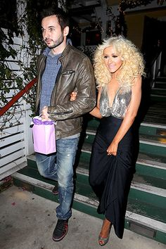 Christina and Matthew Rutler enjoy dinner together after The Voice finale!!! Cute!!!