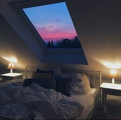 The window above the bed