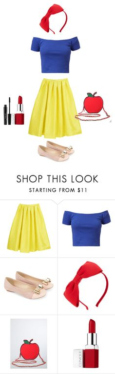 """""""DIY Halloween Costume - Snow White"""" by supernaturallyme ❤ liked on Polyvore featuring Monsoon, Kate Spade, Torrid, Clinique and Inglot"""