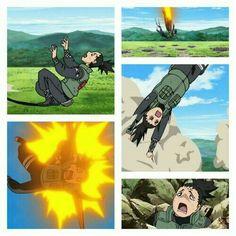 Nara Shikamaru, funny, collage, comic, explosions, expressions, faces; Naruto