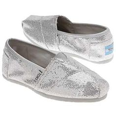 silver sparkly toms worn a few times but still in good condition. TOMS Shoes