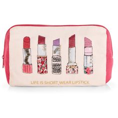 f35b4ee3c40d Accessorize Lipstick Makeup Bag ( 23) ❤ liked on Polyvore featuring beauty…  Pochette,