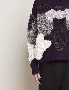 the moss pullover Knitwear Fashion, Knit Fashion, Moda Crochet, Knit Crochet, Textiles Techniques, Knit Picks, Fabric Manipulation, Knitting Designs, Mode Style