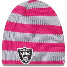 Women's New Era Oakland Raiders Breast Cancer Awareness Knit Hat
