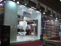 Stand da Metal Shop para a maior feira de negócios do setor logístico da América do Sul, a MOVIMAT.