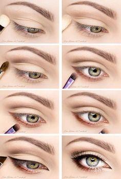 eye makeup for brown eyes ; eye makeup for blue eyes ; eye makeup tips ; eye makeup for green eyes Natural Eye Makeup, Eye Makeup Tips, Makeup Hacks, Skin Makeup, Makeup Inspo, Makeup Inspiration, Makeup Ideas, Makeup For Big Eyes, Eye Enlarging Makeup