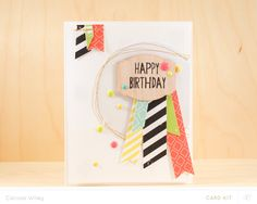 The One With The Birthday Badge by carissawiley at @studio_calico - birthday card