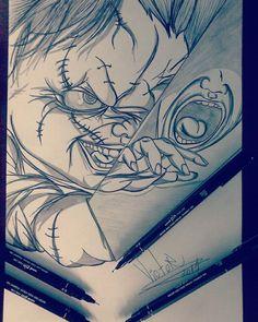 Desenho finalizado CHUCKY