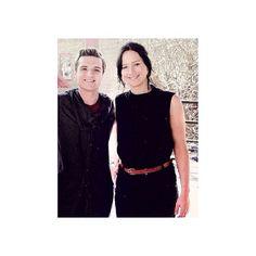 Josh Hutcherson and Jennifer Lawrance