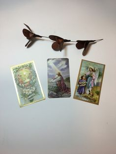 A personal favorite from my Etsy shop https://www.etsy.com/listing/273977768/vintage-praying-paper-cards-west-germany