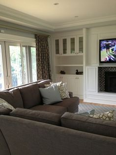 Tv Over Fireplace Design Ideas, Pictures, Remodel, and Decor - page 45 Side case idea