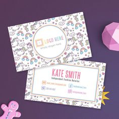 Unicorn Lula Business Cards Free Personalize Home Office