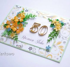 Moja nowa quillingowa kartka #quilling #quillingflowers #paperflowers #paperartist #quillingcard
