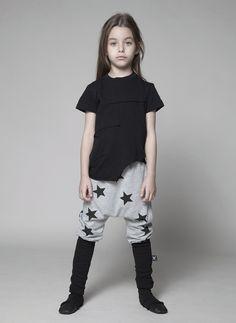 Nununu Star Donkey Pants in Grey - NU0718