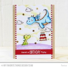 Magical Dragons Stamp Set and Die-namics, Birthday Bears Stamp Set and Die-namics, Stitched Cloud Edges Die-namics, Stitched Basic Edges Die-namics, Blueprints 29 Die-namics - Torico  #mftstamps