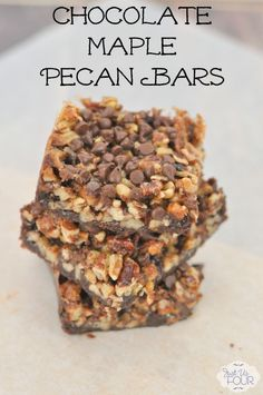 ... pecan pie! Chocolate maple pecan bars are amazing and so delicious
