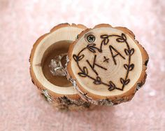 Another great find on Brown Personalized Engraved Ring Holder by Morgann Hill Designs Ring Holder Wedding, Wedding Rings, Personalized Wedding, Personalized Gifts, Rustic Wood Box, Ring Bearer Box, Diy Inspiration, Wood Rings, Wedding In The Woods