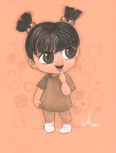 original cartoon drawing of little Boo