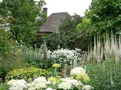 "pagewoman: "" The White Garden, Sissinghurst Castle, Kent, England """