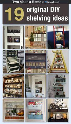 19 Original DIY Shelving Ideas ~ get your house in order!