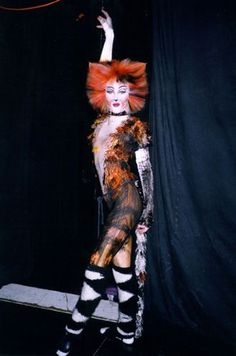 Shanna Ursua (now Shanna Sell), right, in her costume and makeup for Cats in 1999. Shanna and her husband run the studio hosting the master classes.
