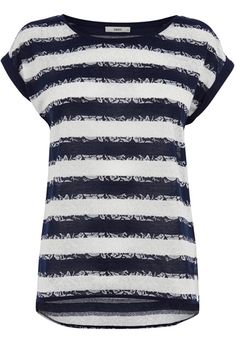 Rose Lace Stripe Tee