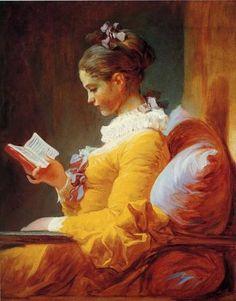 Young Woman Reading  Jean Honoré Fragonard
